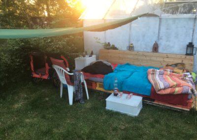 Outdoor Bett Hundepension Hundephysio Wilsdruff