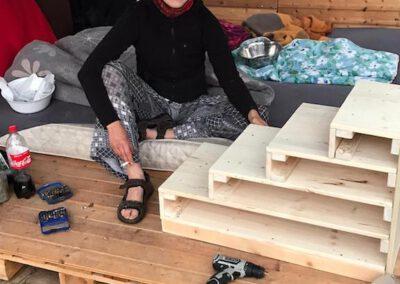 Hundetreppe bauen 2 Hundepension Hundephysio Tierheilpraxis Wilsdruff