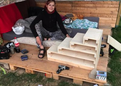 Hundetreppe bauen Hundepension Hundephysio Tierheilpraxis Wilsdruff